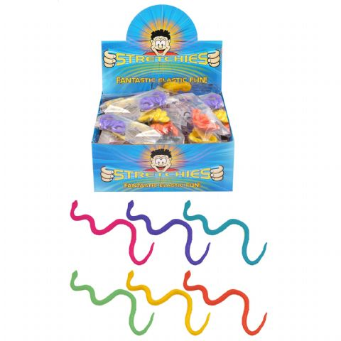 Stretchy Snakes - Stretchies Party Bag Fillers Favours Toys - Assorted Colours